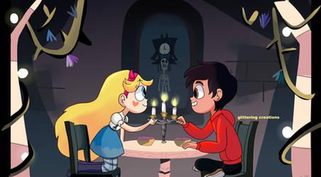 having dinner together
