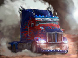 Truck Western Star (Optimus Prime) emits light by Zef-17
