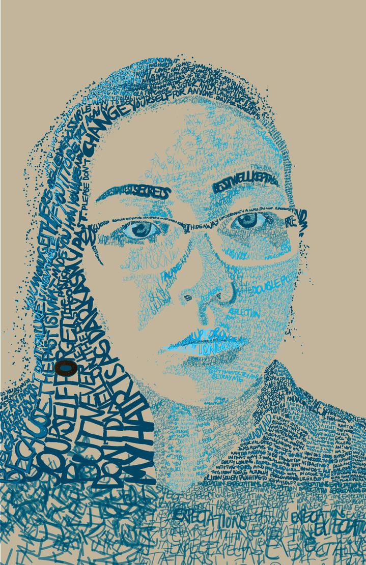 Typographic Self-Portrait by Kid-Kun96