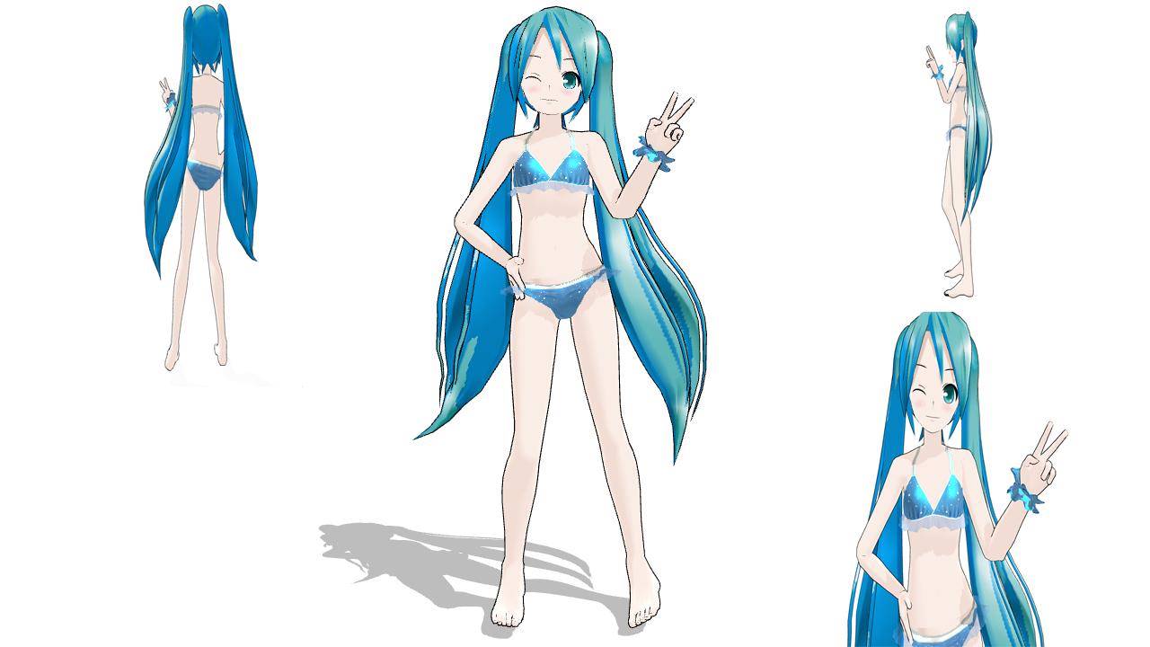 MMD Miku Bikini DL by Shaun578