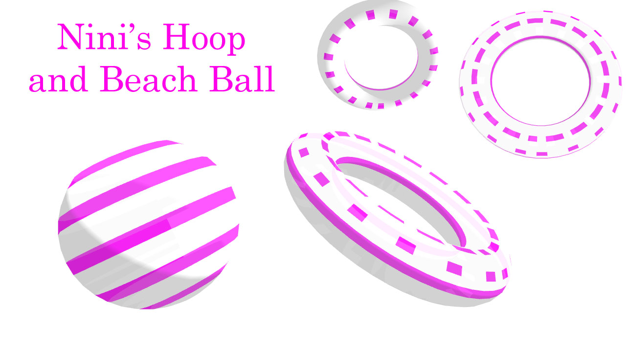 Cyber Sweet Cutie Nini's Beach ball and Hoop DL by Shaun578