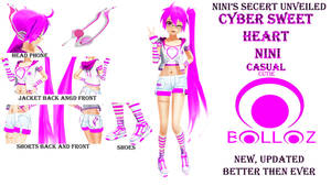Cyber Sweet Heart Nini Cutie Upgrade to ISAO by Shaun578