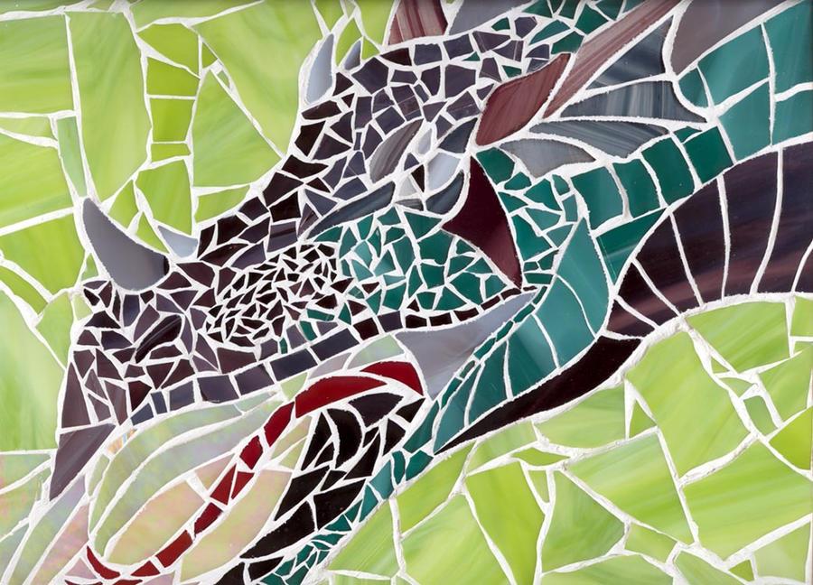 Glass Dragon Mosaic