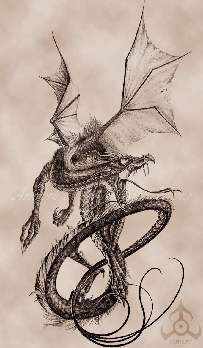 Commission: James' Dragon by jocarra