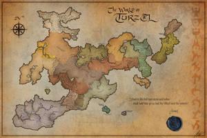 Commission: Map of Turzel by jocarra