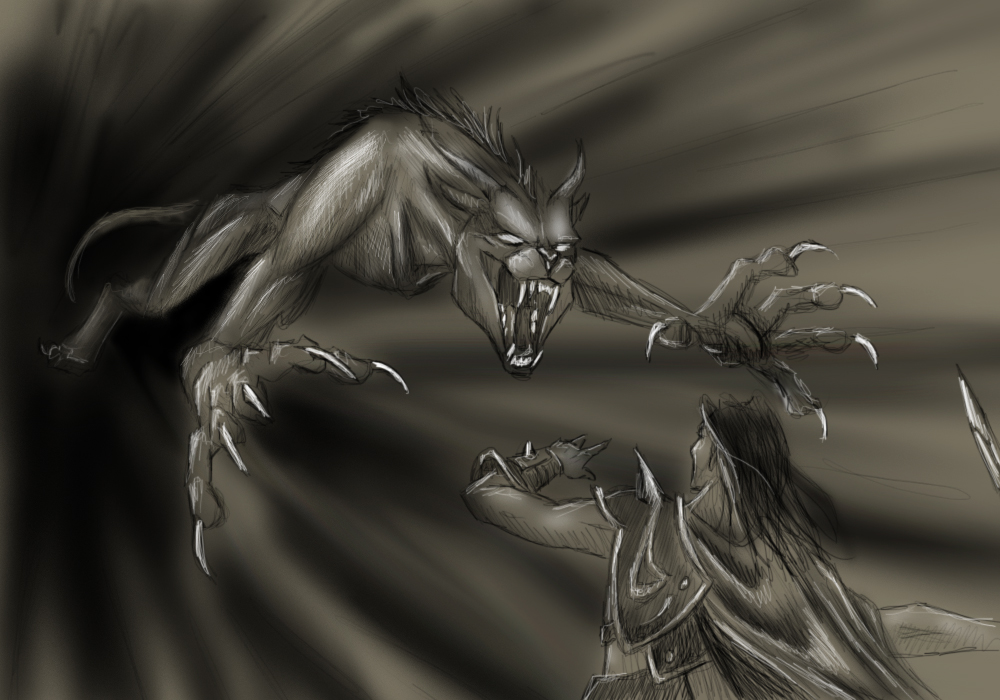 Sketch Commish - Irago's Wrath by jocarra