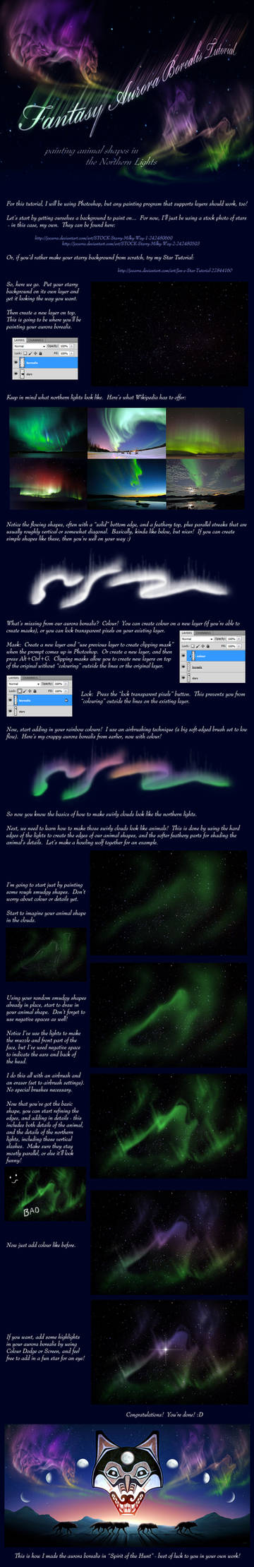 Fantasy Aurora Borealis Tutorial