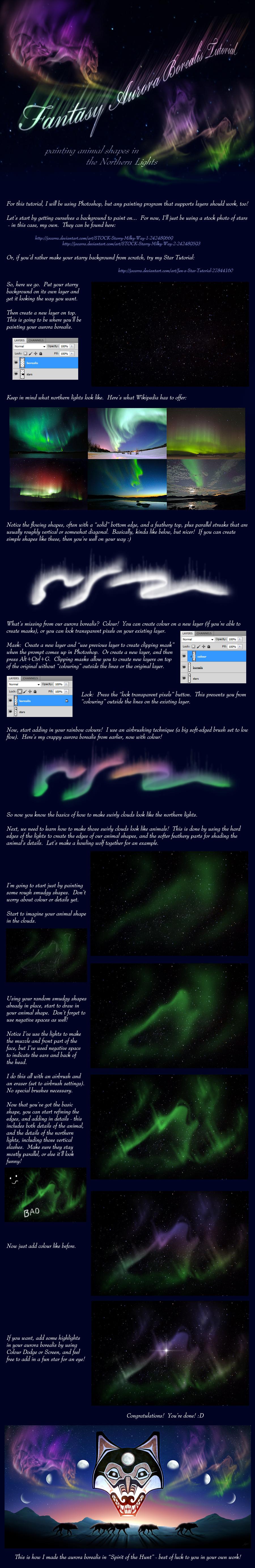 Fantasy Aurora Borealis Tutorial by jocarra
