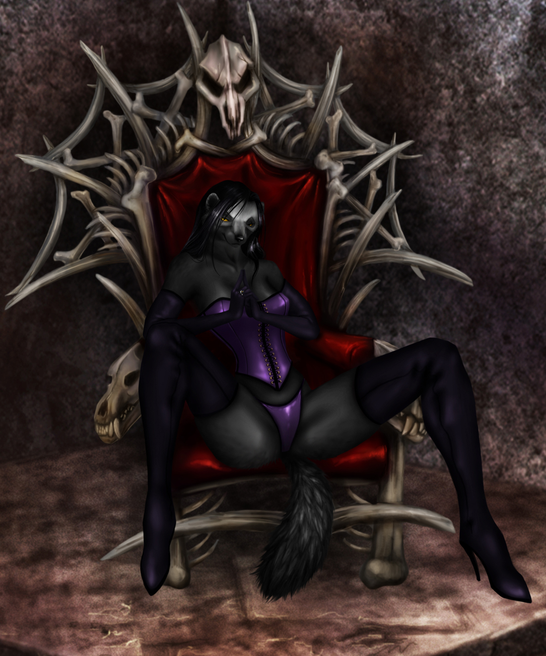Commission - The Mistress of Bone by jocarra