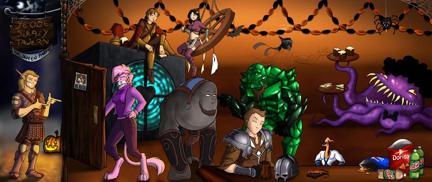A Sleazy Tavern Nerdy Halloween by jocarra