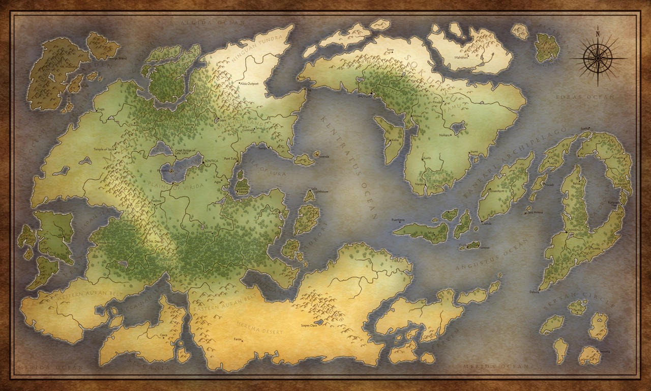 Commission - Eleysia World Map by jocarra on DeviantArt
