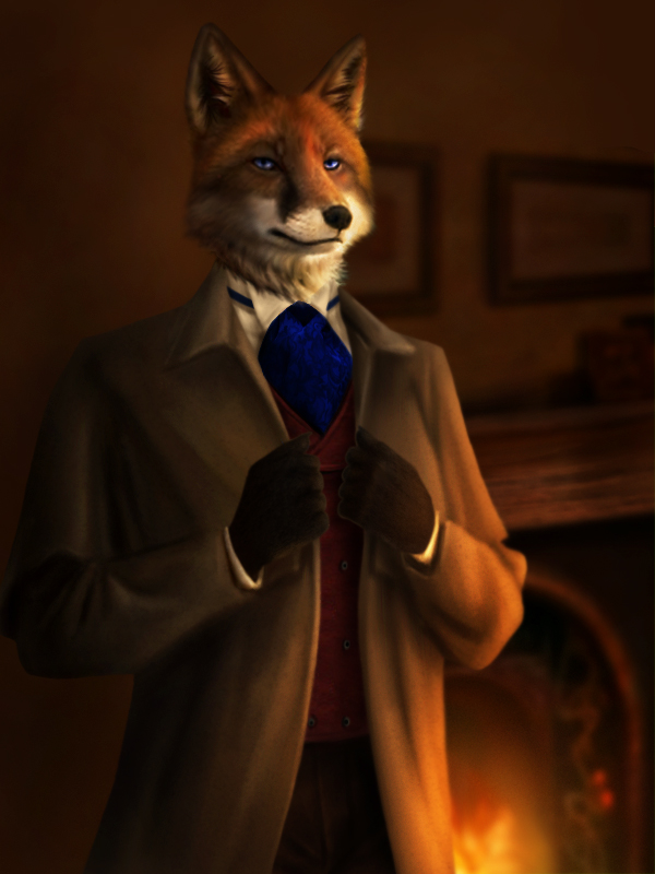 Badge Commission - A Victorian Gentlefox by jocarra