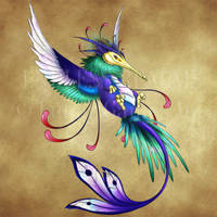 Endless Realms bestiary - Giant Hummingbird by jocarra