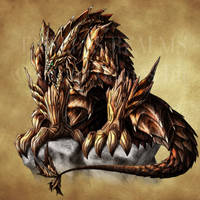 Endless Realms bestiary - Rhytidaemon by jocarra