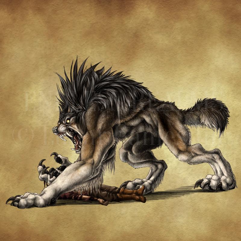 Endless Realms bestiary - Volkodlak by jocarra