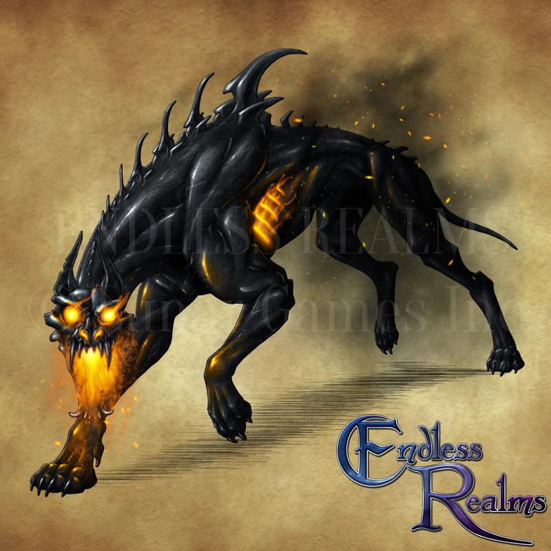 Endless Realms Bestiary Hellhound By Jocarra On Deviantart