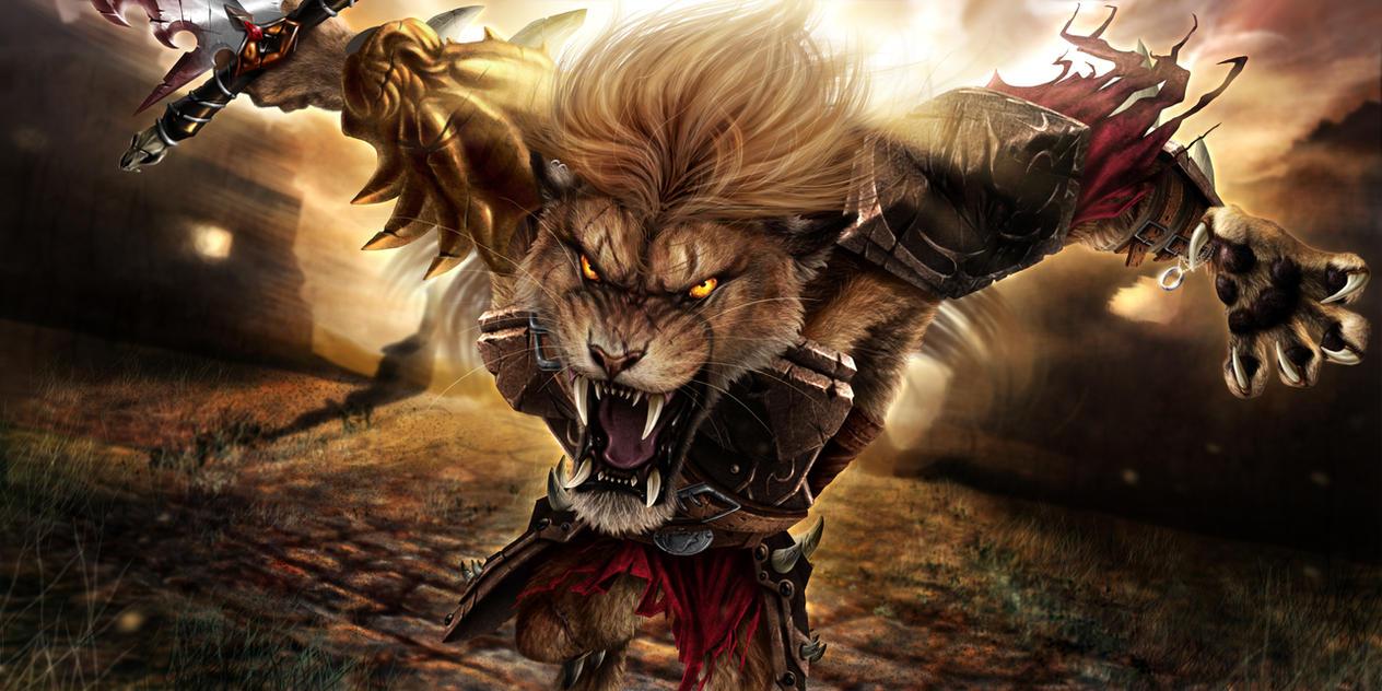Deviantart Lion Warrior: Nature's Wrath (clean) By Jocarra On DeviantArt