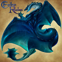 Endless Realms bestiary - Water Dragon Scion by jocarra