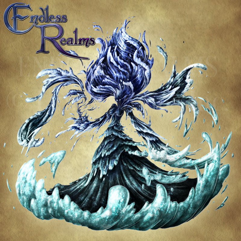 Endless Realms Bestiary Corrupt Water Spirit By Jocarra