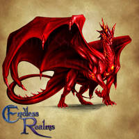 Endless Realms bestiary - Ruby Dragon by jocarra