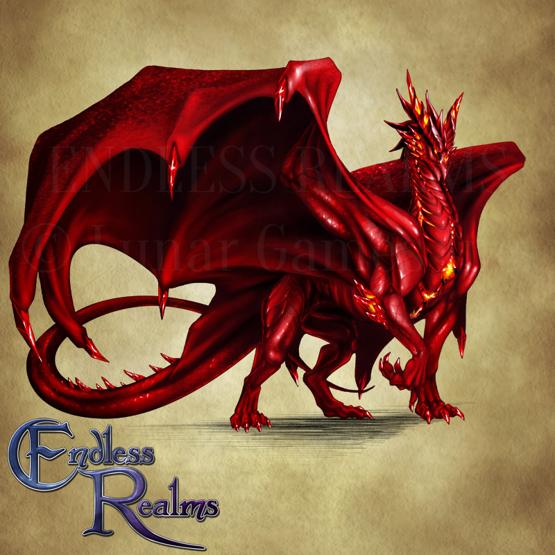 Endless Realms bestiary - Ruby Dragon
