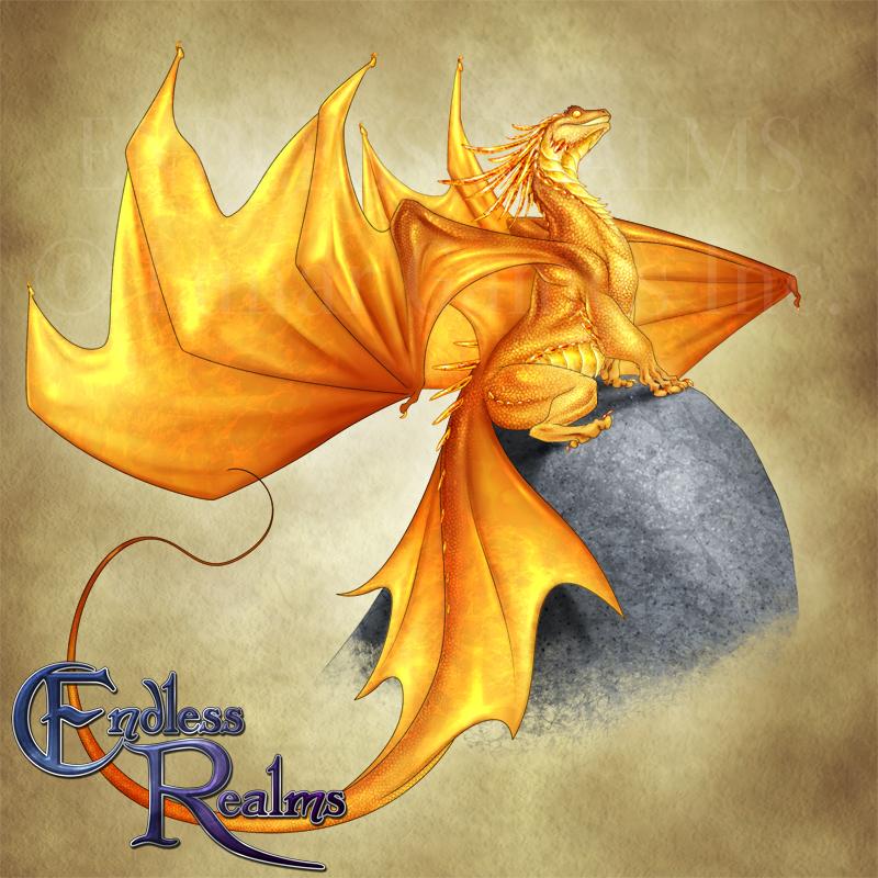 Endless Realms bestiary - Citrine Dragon