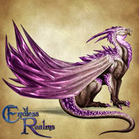 Endless Realms bestiary - Amethyst Dragon by jocarra