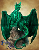 Endless Realms bestiary - Emerald Dragon by jocarra