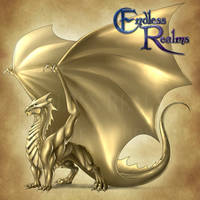 Endless Realms bestiary - Pyrite Dragon by jocarra