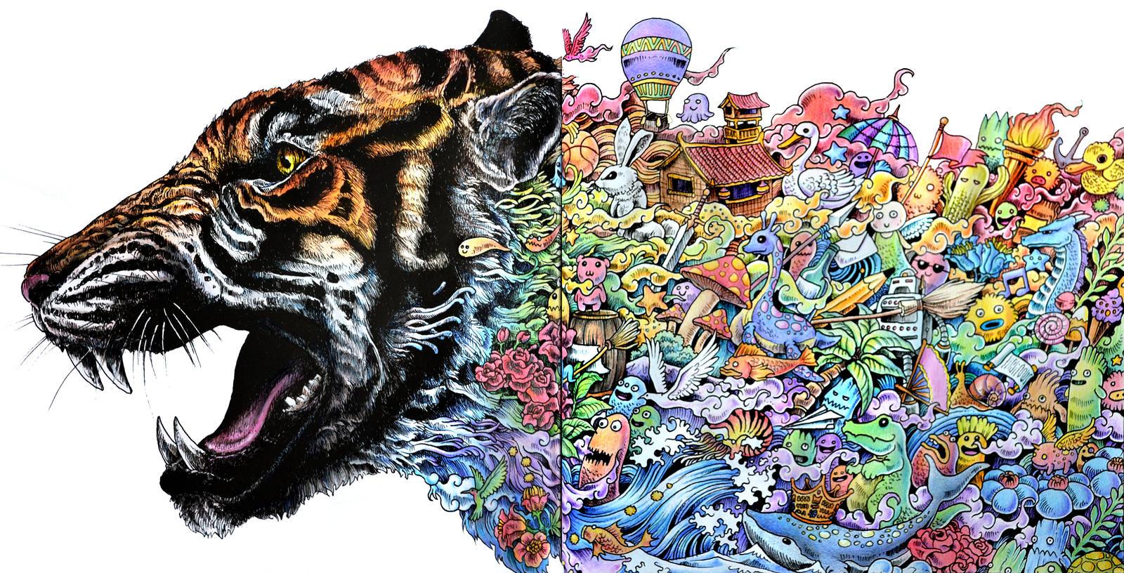 Animorphia Tiger By Jocarra