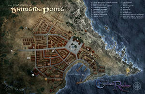 Endless Realms - Brimtide Campaign - Town Map by jocarra