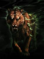 Commission - Elusive Beast by jocarra