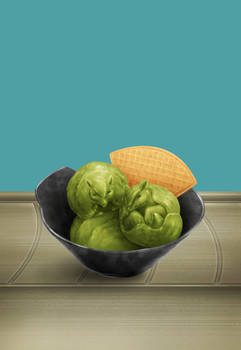 Sushi Go Jen - Green Tea Ice Cream
