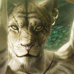 Commission - Hunter's Grace (closeup)