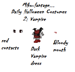 Halloween Daily Costumes~Day 2~Vampire by Miku-Fantage