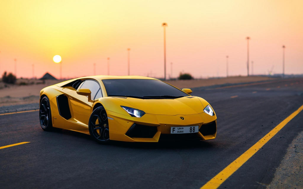 Car Yellow Lamborghini Aventador Hd Wallpaper By Silar91 ...