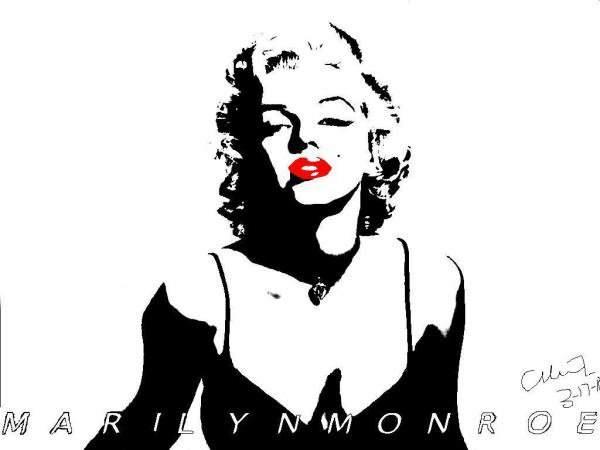 Marilyn Monroe Face Silhouette Tattoo Marilyn monroe by