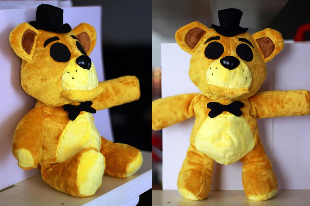 Golden freddy plush handmade by nightmaren cosplay