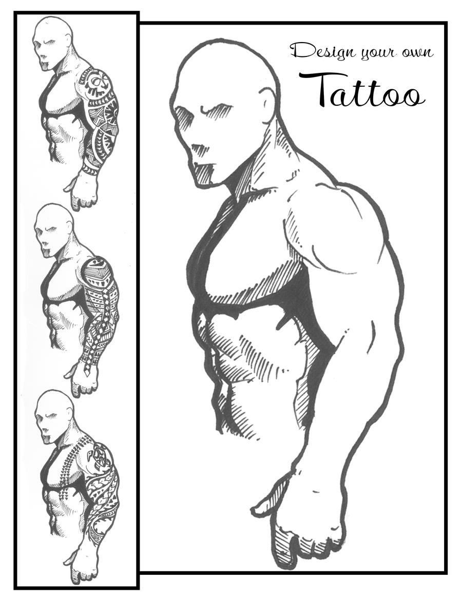 Tattoo templates beepmunk for Designing a sleeve tattoo template