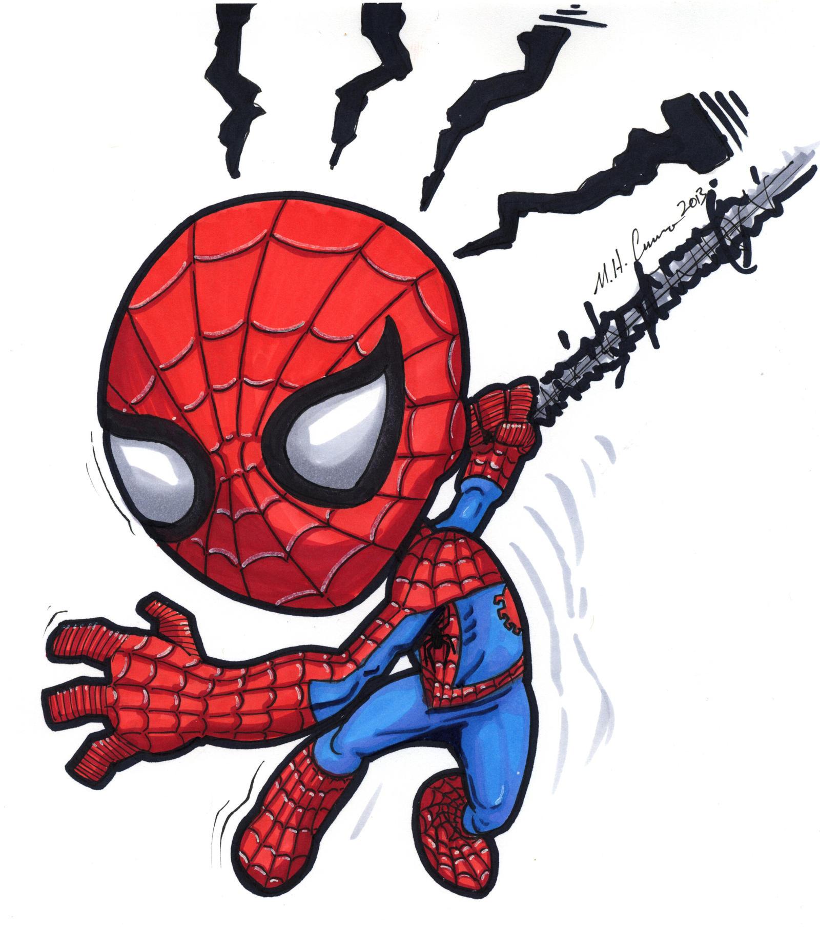 Chibi Spiderman by artildawn on DeviantArt