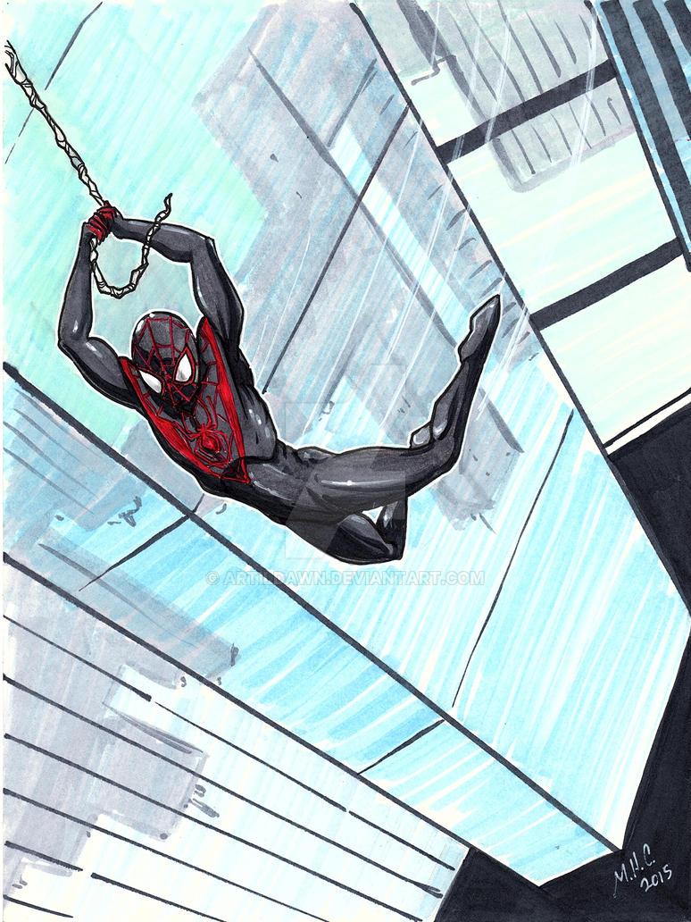 Morales Spiderman by artildawn