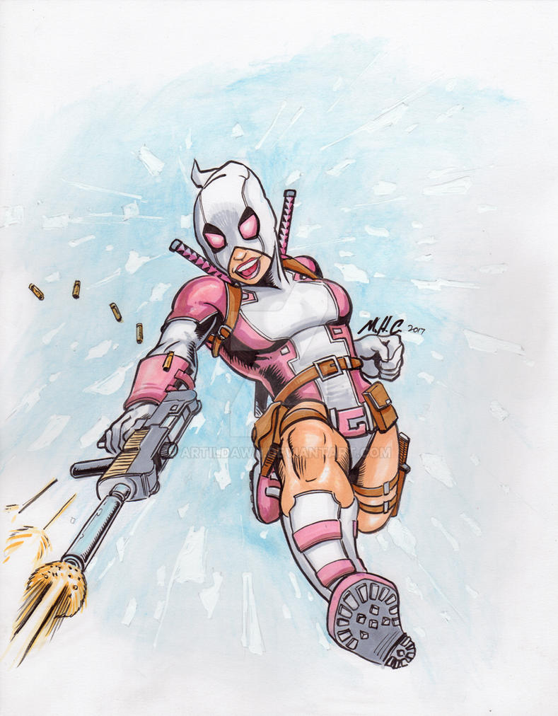 Gwenpool jumps into action by artildawn