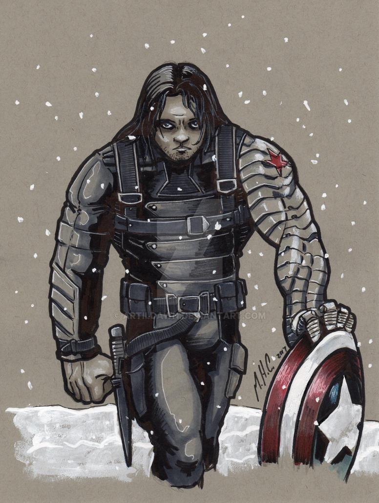 Winter Soldier - Grey Tone by artildawn
