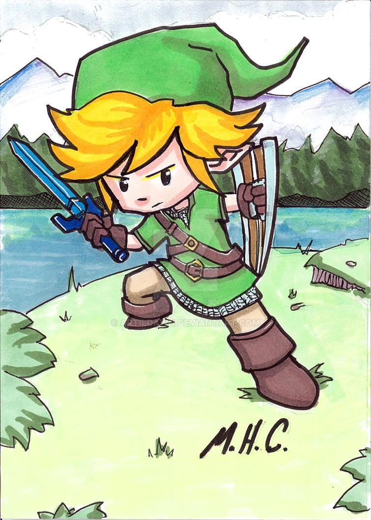 Link-chibi by artildawn