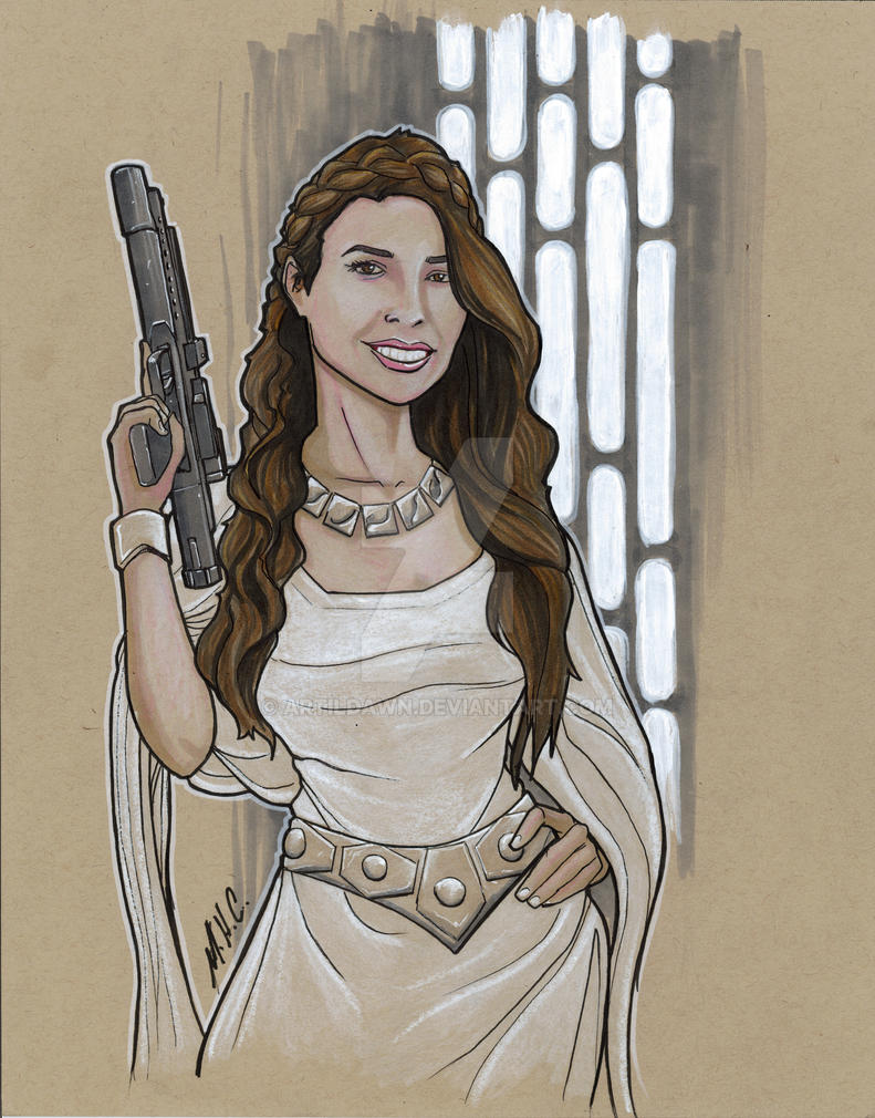 Leia commission by artildawn