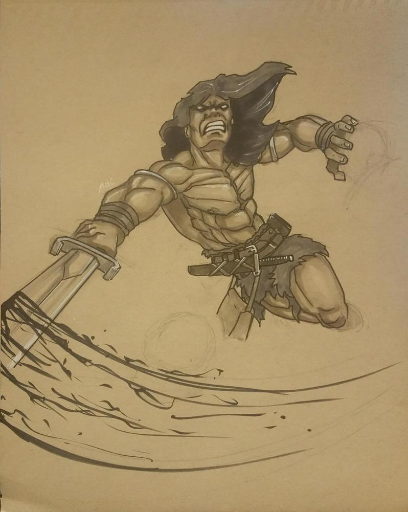 Conan in action by artildawn