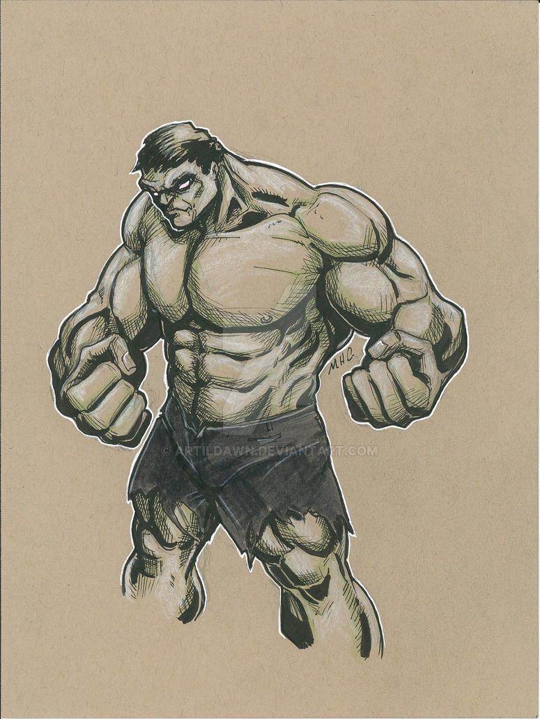 Hulk for lunch by artildawn