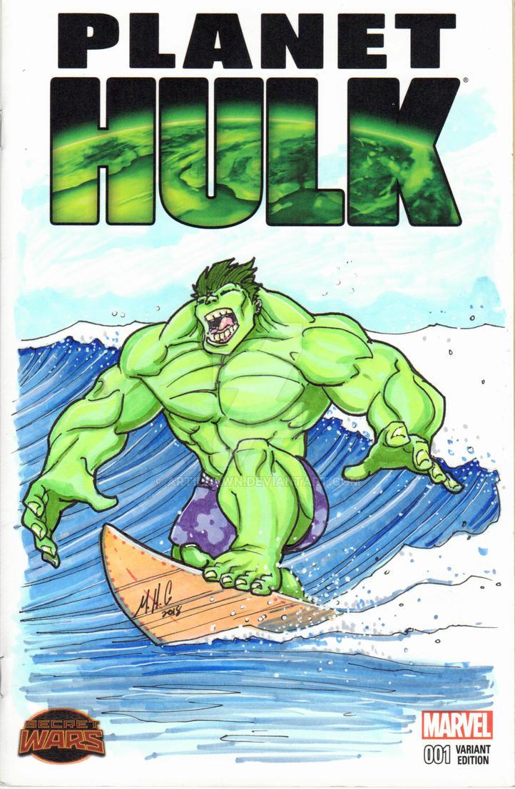 MHC Variant - Surfin Hulk by artildawn