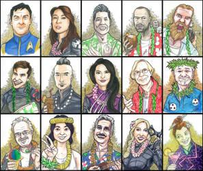 Comic Con Honolulu 2018 guest portrats