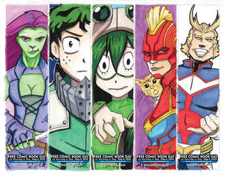 FCBD 2019 bookmarks -1 by artildawn